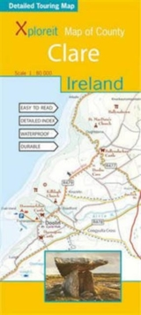 Xploreit Map of County Clare, Ireland, Sheet map, folded Book