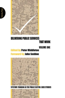 Delivering Public Services That Work : Vol. 1, Paperback Book