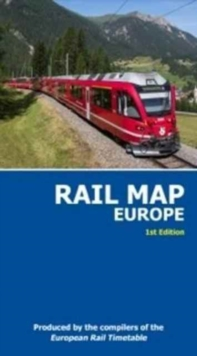 Rail Map of Europe : 1st Edition, 2nd Revision, Sheet map, folded Book