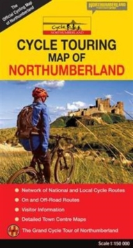 Cycle Touring Map of Northumberland - Official, Sheet map, folded Book