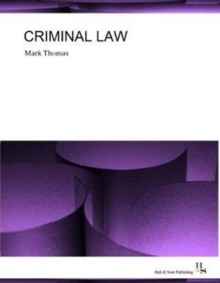 Criminal Law, Paperback / softback Book