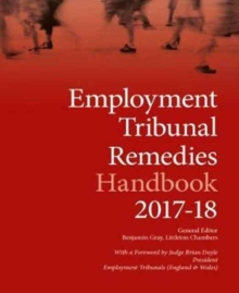 Employment Tribunal Remedies Handbook, Paperback Book