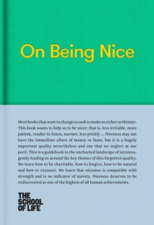 On Being Nice, Hardback Book