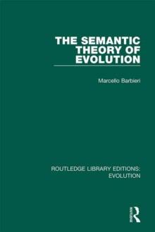 The Semantic Theory of Evolution, PDF eBook