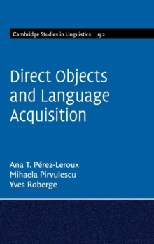 Direct Objects and Language Acquisition, Hardback Book