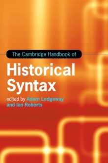 The Cambridge Handbook of Historical Syntax, Hardback Book