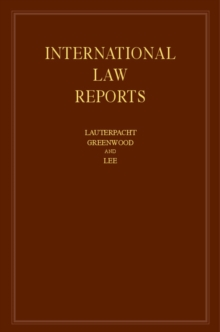 International Law Reports: Volume 163, Hardback Book