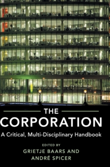 The Corporation : A Critical, Multi-Disciplinary Handbook, Hardback Book