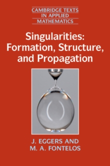 Singularities: Formation, Structure, and Propagation, Hardback Book