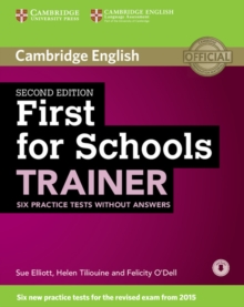 First for Schools Trainer Six Practice Tests Without Answers with Audio, Mixed media product Book