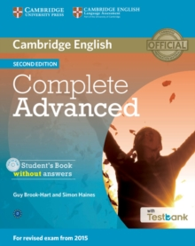 Complete Advanced Student's Book Without Answers with CD-ROM with Testbank, Mixed media product Book