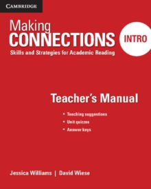 Making Connections Intro Teacher's Manual : Skills and Strategies for Academic Reading, Paperback Book