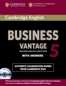 Cambridge English Business 5 Vantage Self-study Pack (student's Book with Answers and Audio CDs (2)), Mixed media product Book