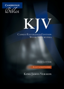 KJV Cameo Reference Edition with Apocrypha KJ455:XRA Black Calfskin Leather, Leather / fine binding Book