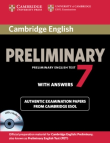 Cambridge English Preliminary 7 Student's Book Pack (Student's Book with Answers and Audio CDs (2)), Mixed media product Book