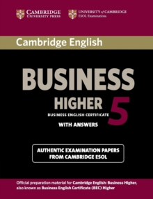 Cambridge English Business 5 Higher Student's Book with Answers, Paperback / softback Book