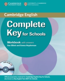 Complete Key for Schools Student's Pack with Answers (Student's Book with CD-ROM, Workbook with Audio CD), Mixed media product Book