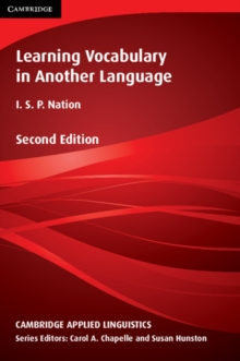 Cambridge Applied Linguistics : Learning Vocabulary in Another Language, Paperback / softback Book