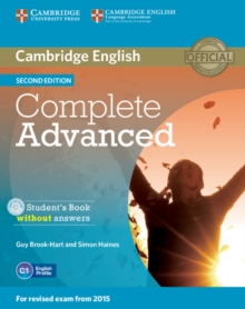 Complete Advanced Student's Book without Answers with CD-ROM, Mixed media product Book