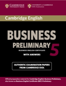 Cambridge English Business 5 Preliminary Student's Book with Answers, Paperback Book