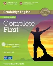 Complete First Student's Book without Answers with CD-ROM, Mixed media product Book