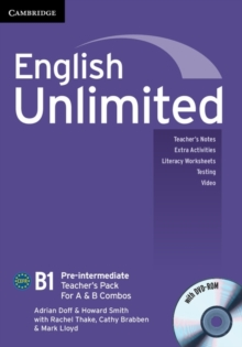 English Unlimited Pre-intermediate A and B Teacher's Pack (Teacher's Book with DVD-ROM), Mixed media product Book