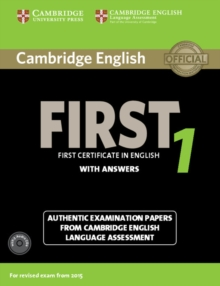 Cambridge English First 1 for Revised Exam from 2015 Student's Book Pack (Student's Book with Answers and Audio CDs (2)) : Authentic Examination Papers from Cambridge English Language Assessment, Mixed media product Book