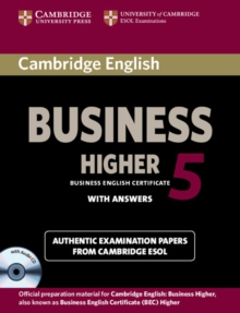 BEC Practice Tests : Cambridge English Business 5 Higher Self-study Pack (Student's Book with Answers and Audio CD), Mixed media product Book