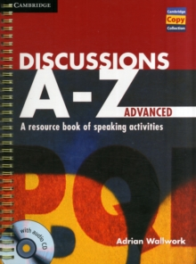 Discussions A-Z Advanced Book and Audio CD : A Resource Book of Speaking Activities, Mixed media product Book