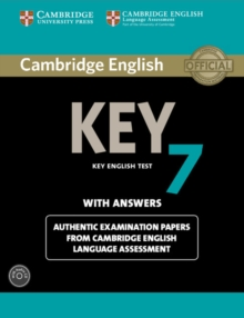 Cambridge English Key 7 Student's Book Pack (Student's Book with Answers and Audio CD) : Authentic Examination Papers from Cambridge English Language Assessment, Mixed media product Book