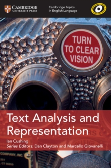 Cambridge Topics in English Language : Text Analysis and Representation, Paperback / softback Book