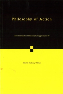 Philosophy of Action, Paperback Book