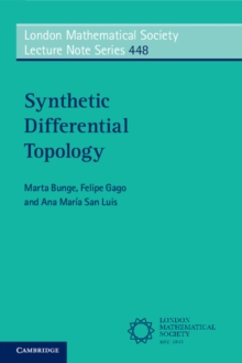 Synthetic Differential Topology, Paperback / softback Book