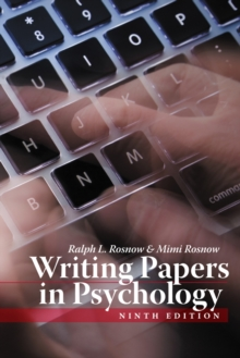 Writing Papers in Psychology, Paperback / softback Book