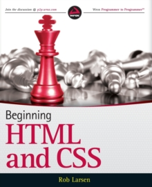 Beginning HTML and CSS, Paperback Book