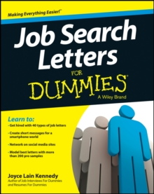 Job Search Letters For Dummies, Paperback Book