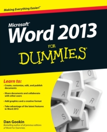 Word 2013 for Dummies, Paperback Book