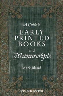 A Guide to Early Printed Books and Manuscripts, EPUB eBook
