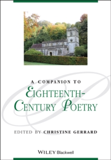 A Companion to Eighteenth-Century Poetry, Paperback Book