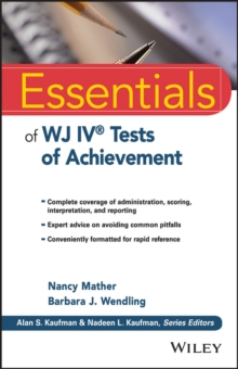 Essentials of WJ IV Tests of Achievement, Paperback Book