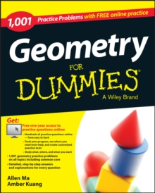 Geometry: 1,001 Practice Problems For Dummies (+ Free Online Practice), Paperback / softback Book