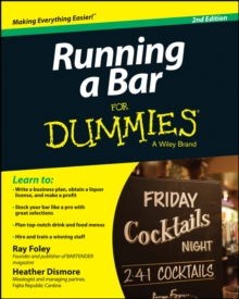 Running a Bar For Dummies, Paperback / softback Book