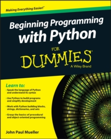 Beginning Programming with Python for Dummies, Paperback Book