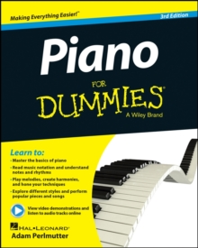 Piano For Dummies : Book + Online Video & Audio Instruction, Paperback / softback Book