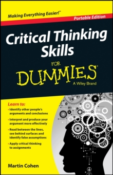 Critical Thinking Skills For Dummies, Paperback / softback Book