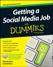 Getting a Social Media Job for Dummies, Paperback Book