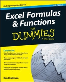 Excel Formulas and Functions For Dummies, Paperback / softback Book