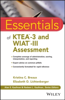 Essentials of KTEA-3 and WIAT-III Assessment, Paperback Book