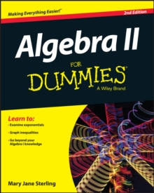 Algebra II for Dummies, 2nd Edition, Paperback Book