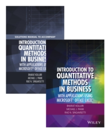 Introduction to Quantitative Methods in Business : With Applications Using Microsoft Office Excel Set, Hardback Book